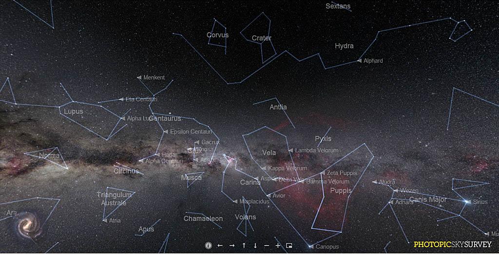 Еще одна интерактивная карта звездного неба Sky Survey