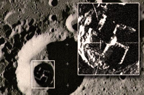 Нацисты на Луне. Свастика в лунном кратере