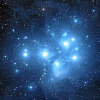 Звездное скопление M45 Плеяды