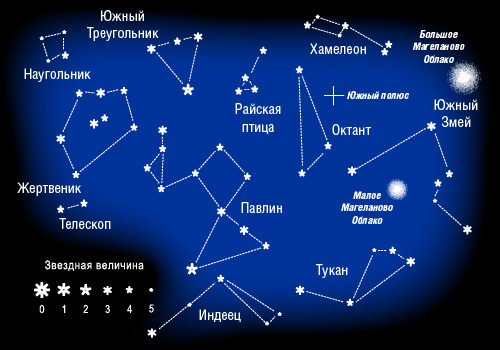 Созвездия Южного полюса