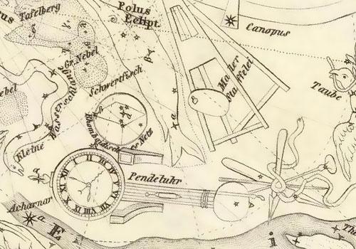 Звездная карта Карла Христиана Франца Радефельда